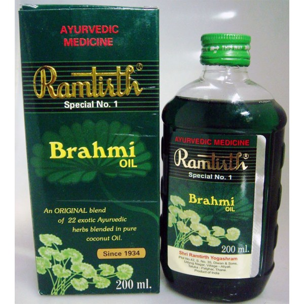 Brahmi Ayurvedic Herbal Hair Oil (200 ml)