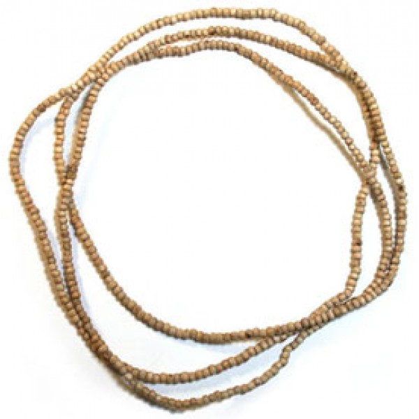 Tulasi Neckbeads, 48 Inches; (Medium Size, Round Beads)