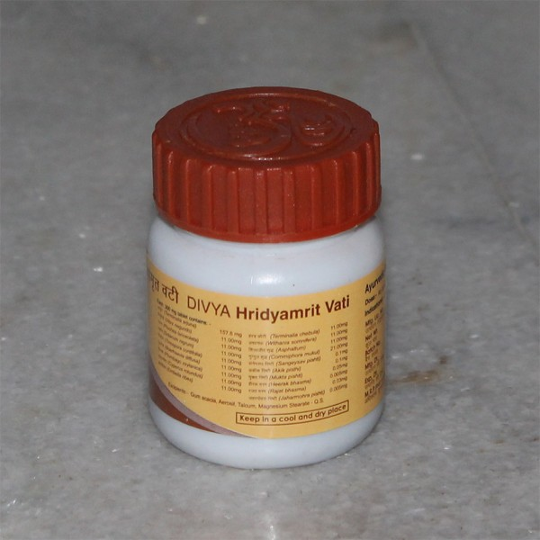 Divya Hridayamrita Vati (for Heart Disease); 40 grams