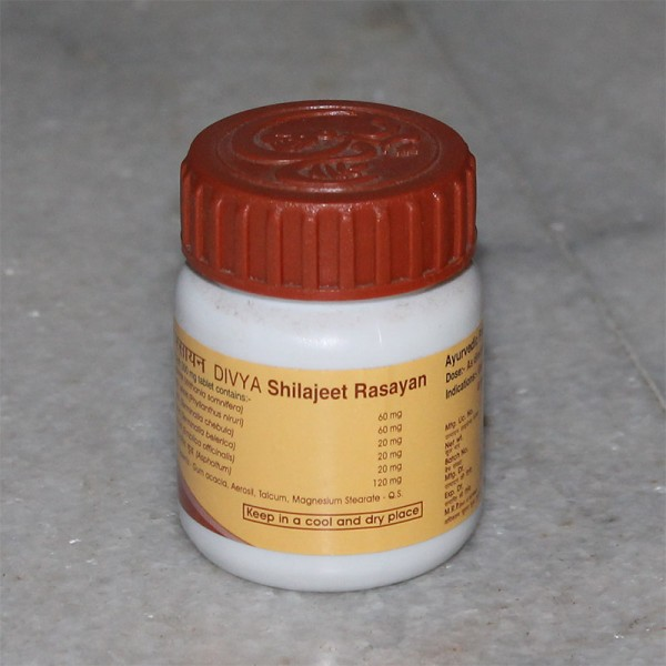 Divya Shilajeet Rasayan Vati (for Impotency); 40 grams